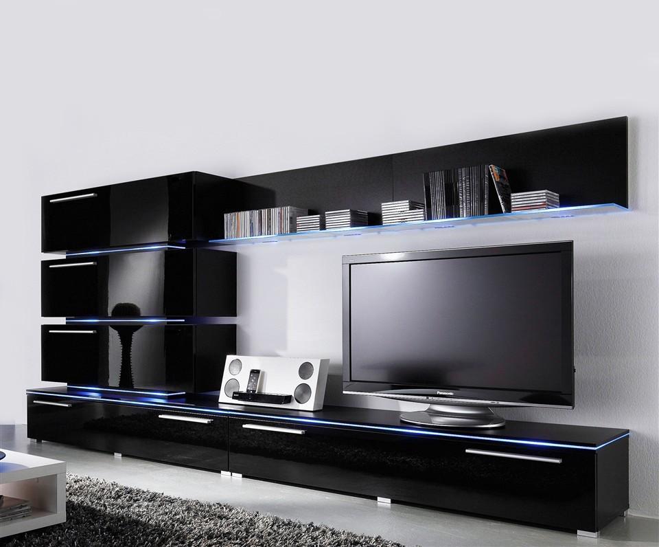 Liren 2 - black media wall unit