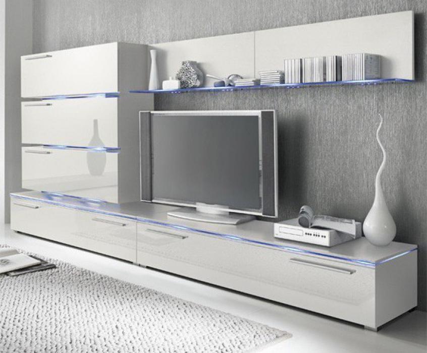 Liren 1 - White media wall unit