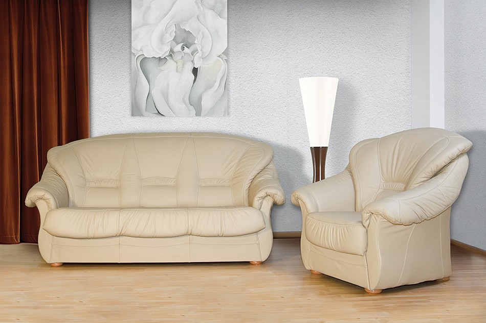 Orfeusz - Leather sofa bed