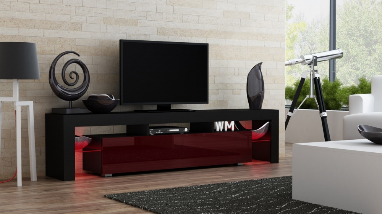 Milano 200 - black modern TV stand