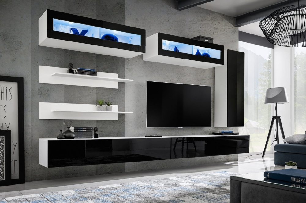 Idea L2 - modern wall unit for tv