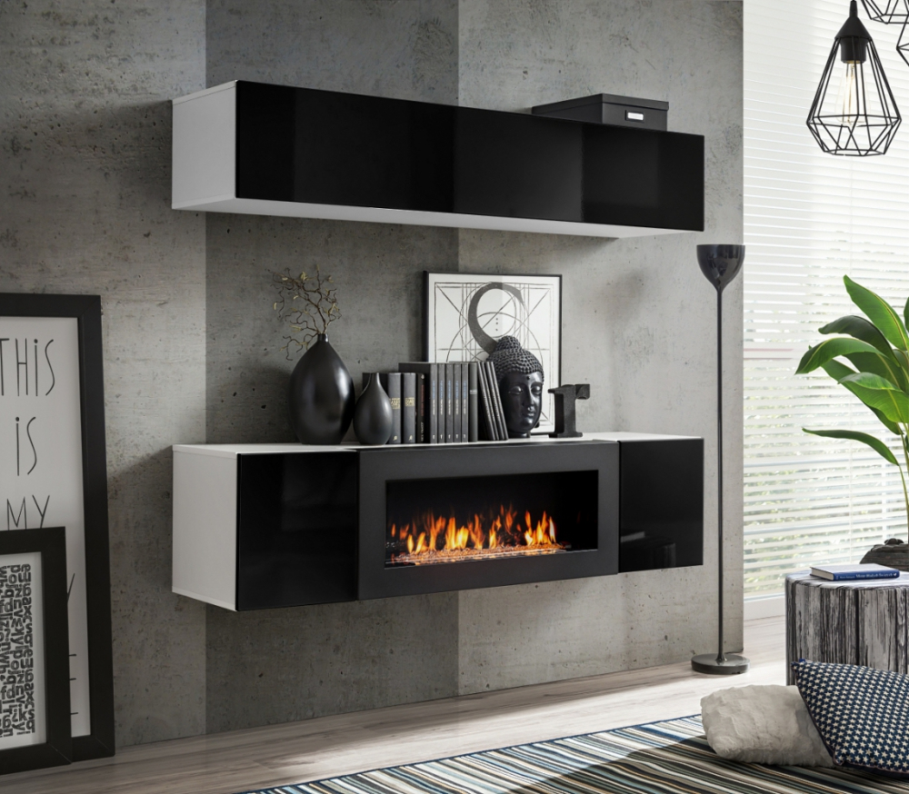 Idea N1 - wall cabinet with fireplace