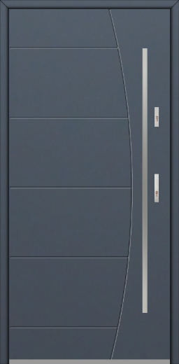 Fargo 26G - stainless steel upvc front door