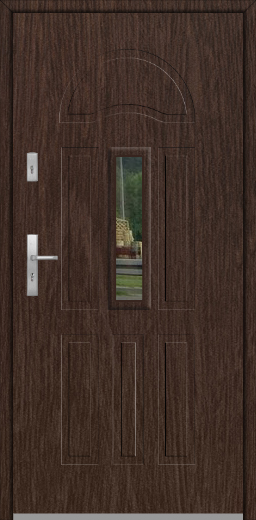 Fargo 34B - single front door with mirror
