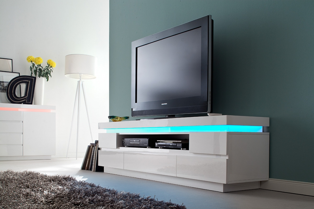 Ocean typ 82 - white tv stand