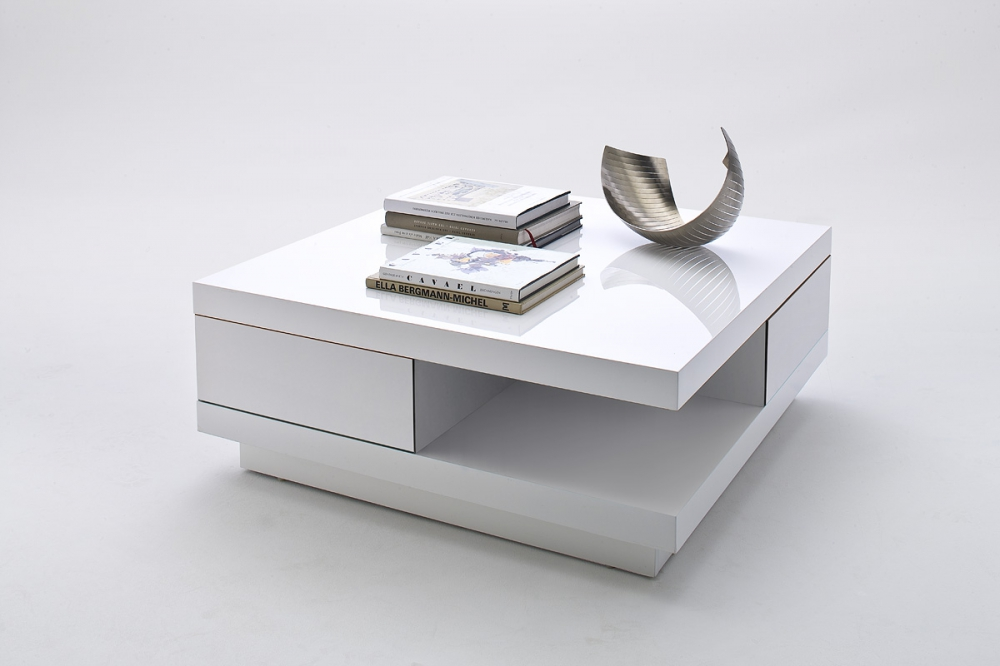 Abby - white modern coffee table