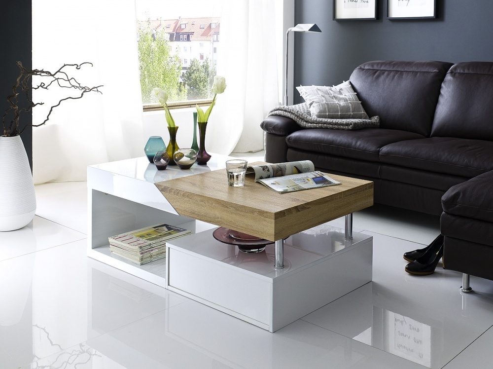 Hope - white and oak living room tables