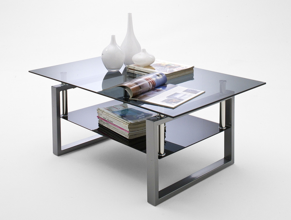 Alfa - black glass coffee table