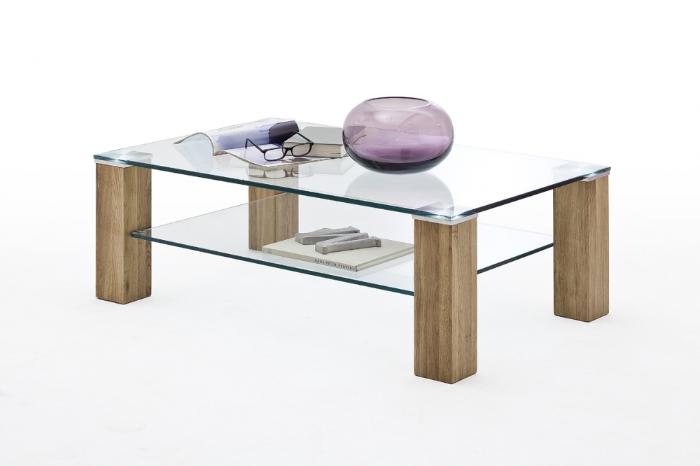 Alma 2 - wood and glass coffee table