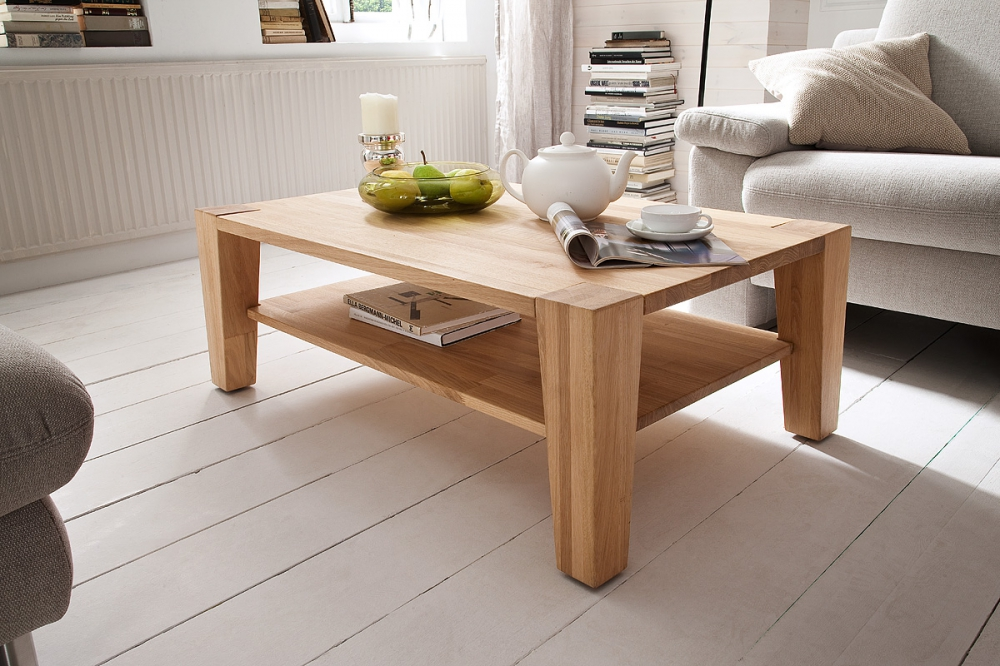 Jan beech 2 - light wood coffee table