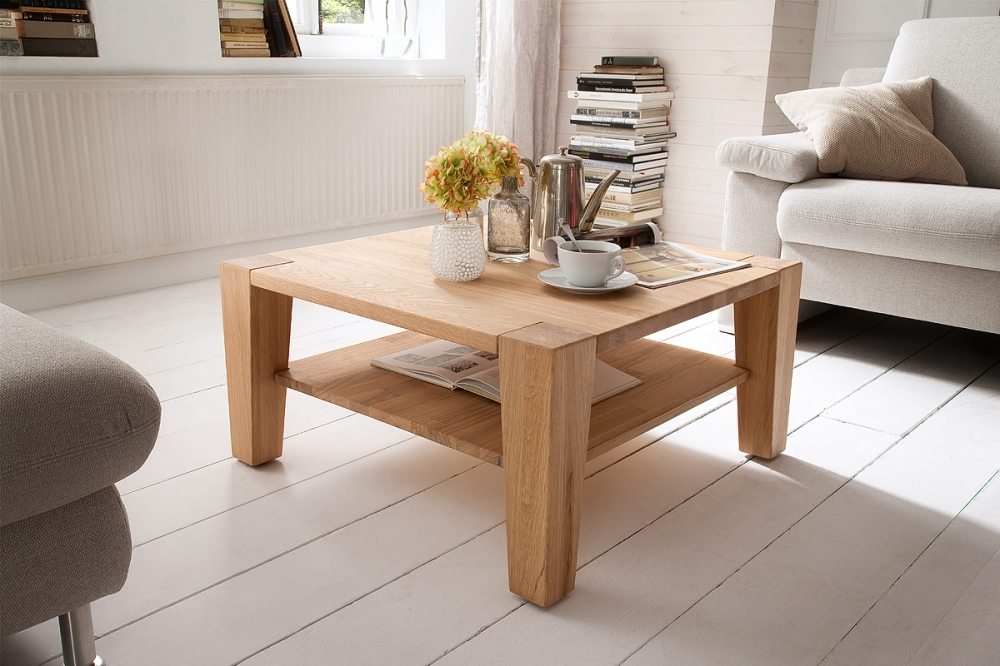 Jan beech - oak square coffee table