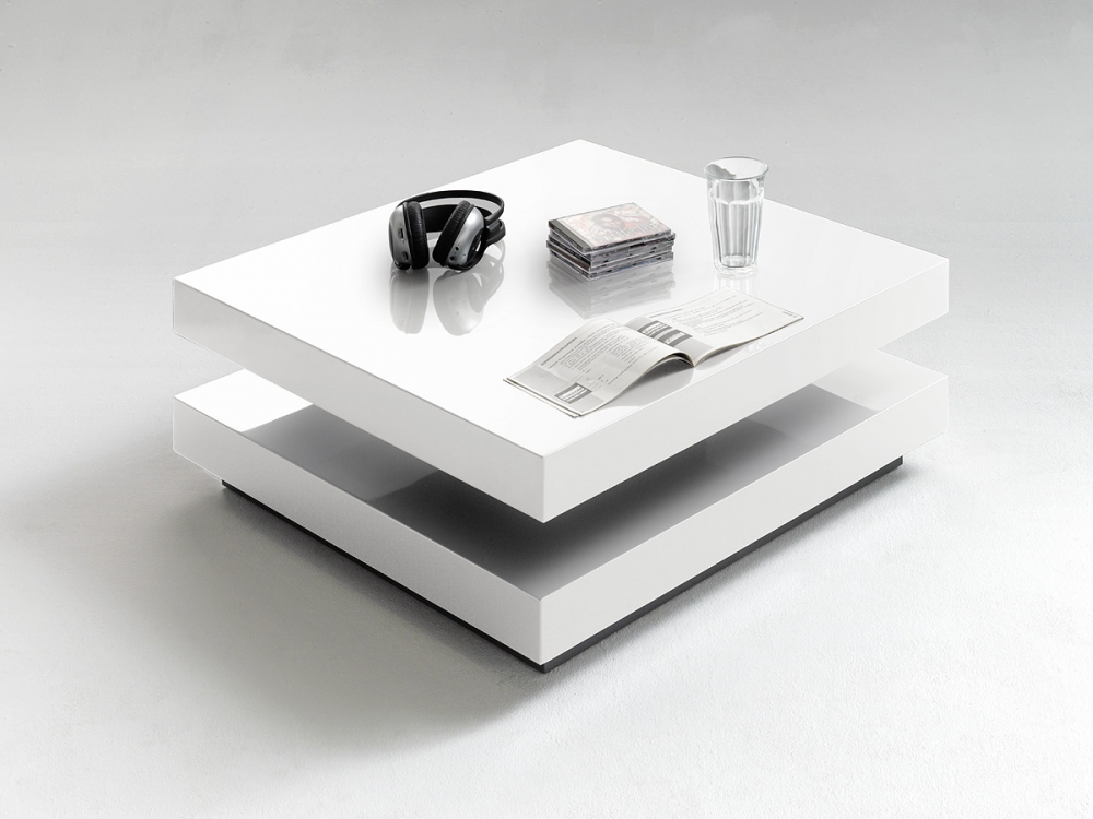 Hugo - white square coffee table
