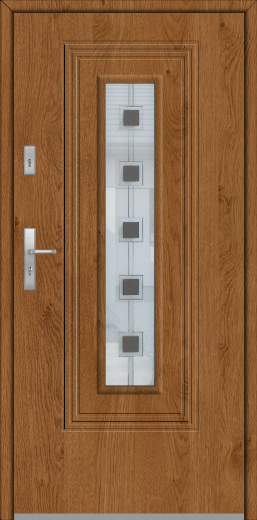 Fargo 6 - single front door with glass