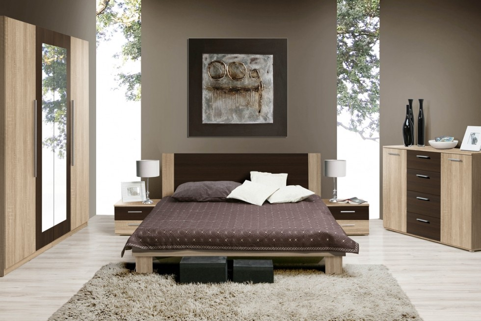 Rennes 2 - walnut bedroom sets queen size
