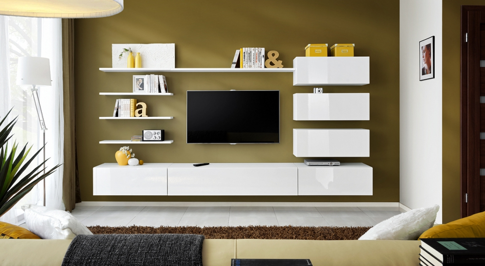 Irvine - modern living room wall unit
