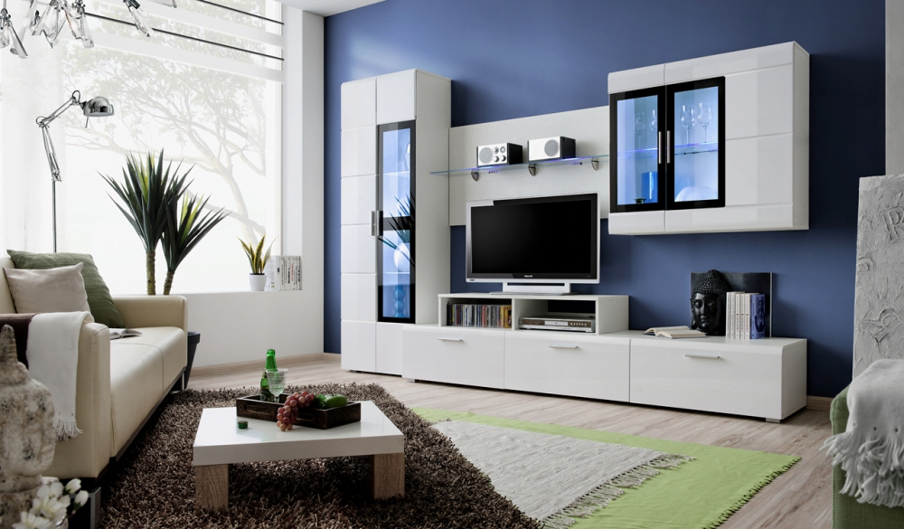 Kane 2  - white entertainment center cabinet