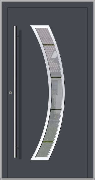LIM Bumerang - aluminium glass main door