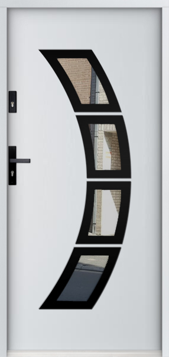 Sta Taurus noir - steel front door