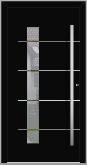 LIM Gryf-B - aluminium entry door