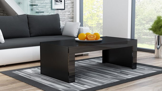 Milano - coffee table black modern coffee table