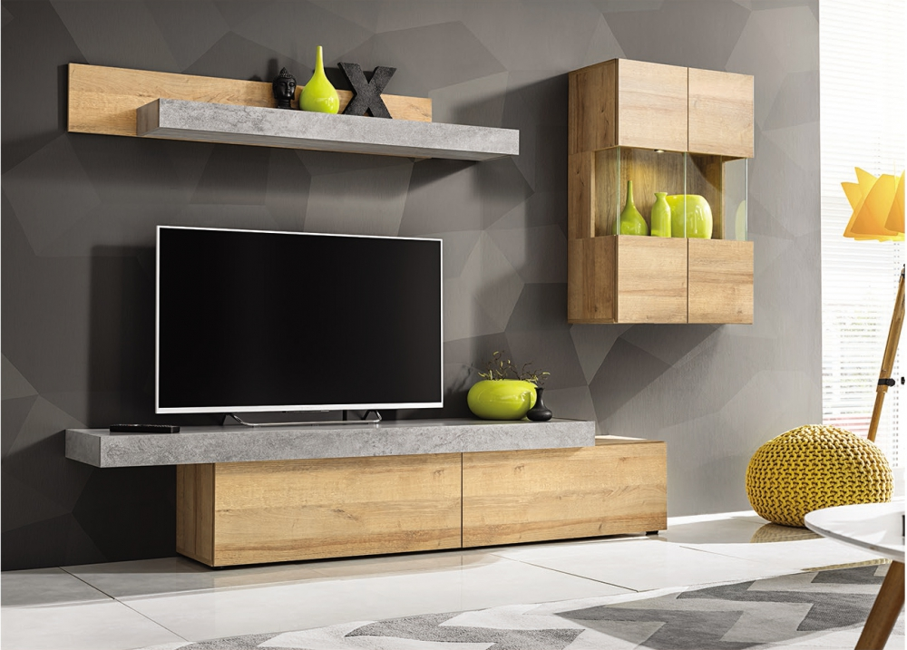 Ascon - tv media wall unit