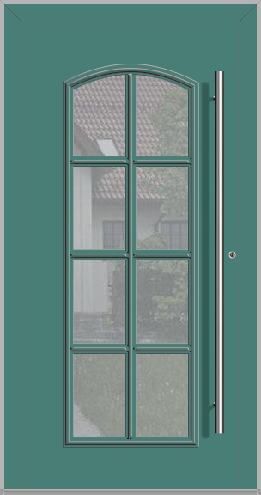 RAPSODIA-T - classic aluminium front door with glass