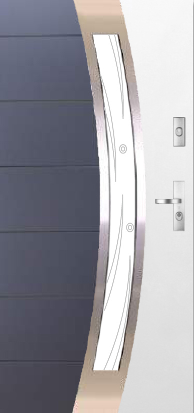 Kent DUO 13s2 - two colours exterior front entry door
