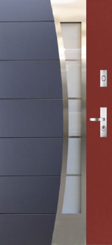 Kent DUO 13s4 - two colours exterior front entry door