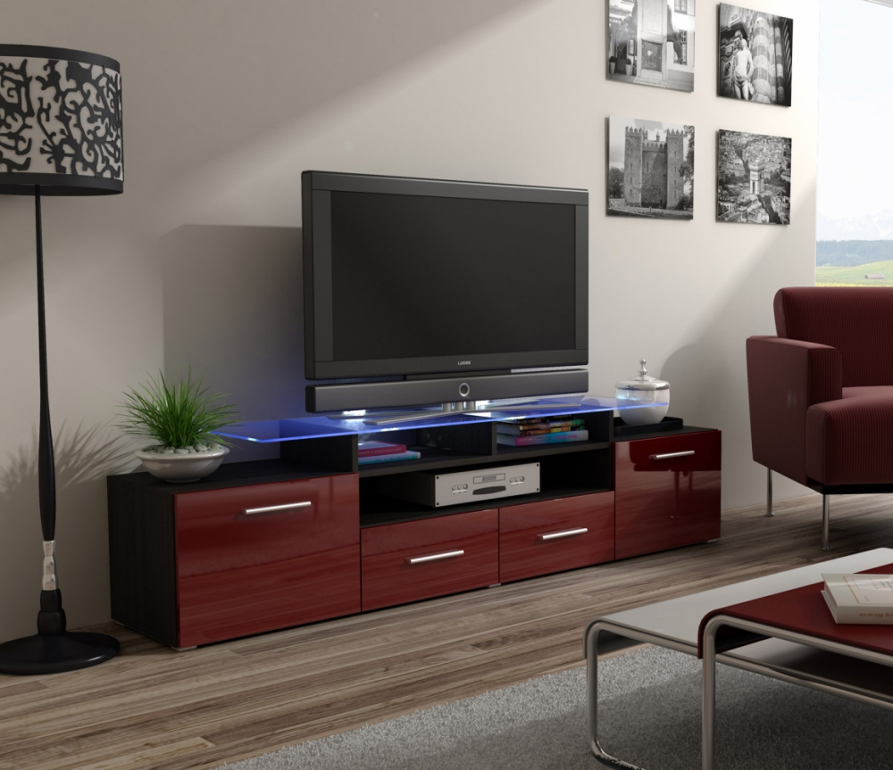 Enea - wenge tv stand for 55 inch flat screen
