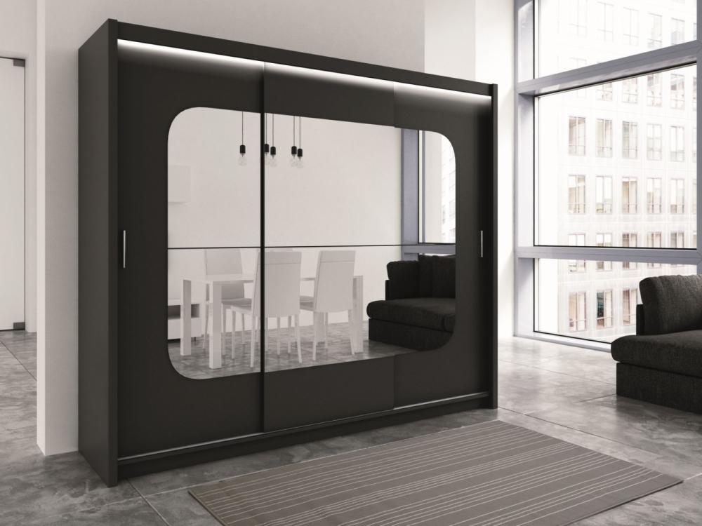 Bodmin - mirrored wardrobe closet