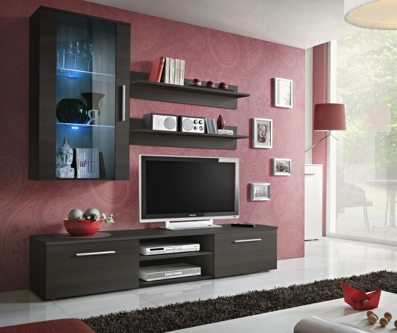 Carlisle 1 - Wenge media wall unit