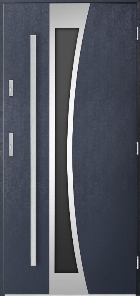 Sta Gemini - stainless steel front door