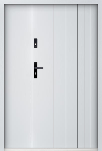 Sta Gutenberg Uno - exterior door with side panel
