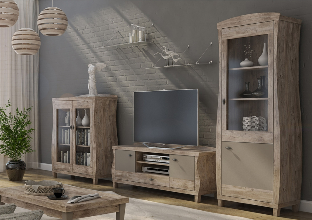 Laurens - oak entertainment center