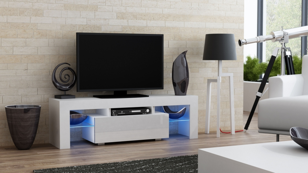 Milano 130 - white small tv stand