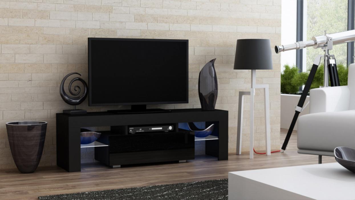 Milano 130 black TV stand