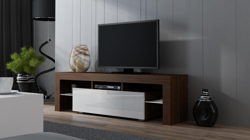Milano 130 - walnut tv console table