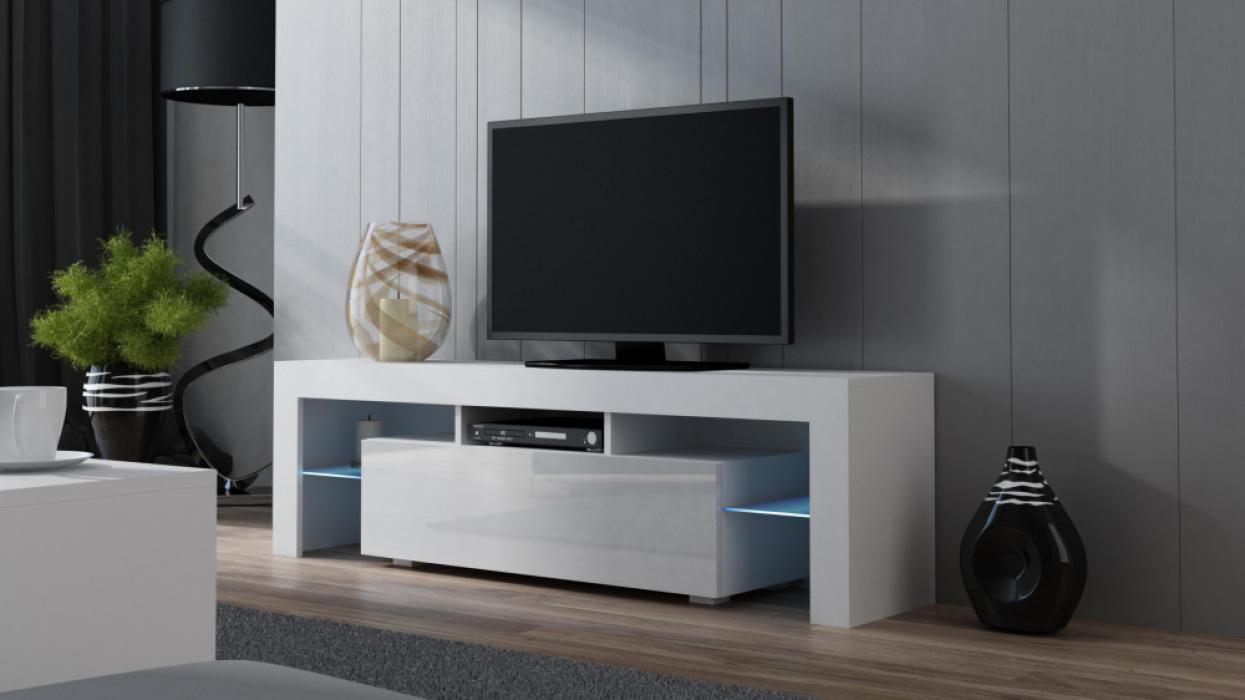 Milano 160 - white modern tv cabinet