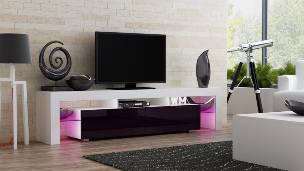 Milano 200 - white modern TV stand