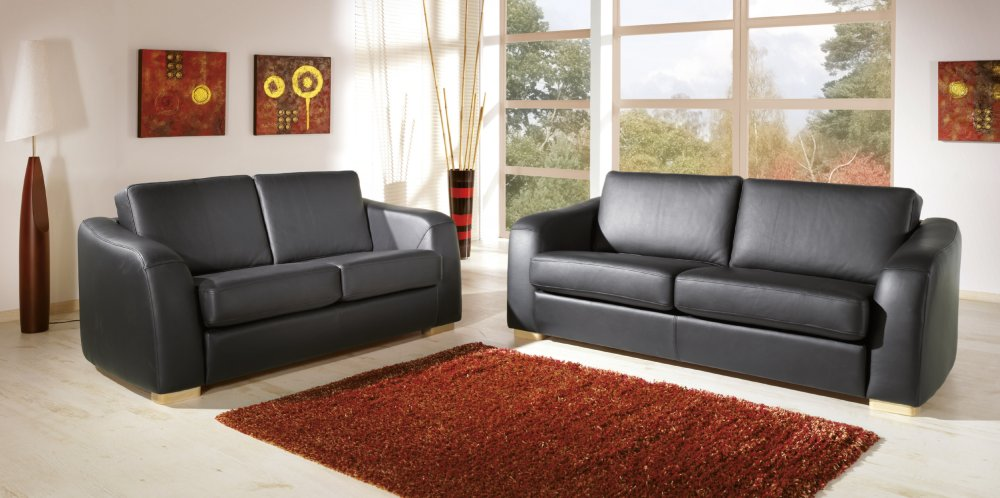MONDO - Faux Leather 2 seater sofa