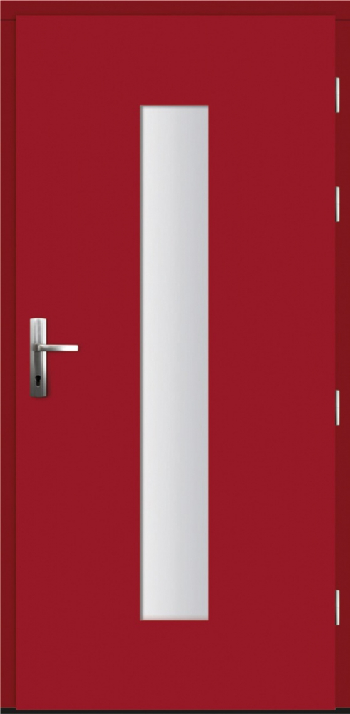 Nanotechcal - solid wood door with exterior aluminum cladding