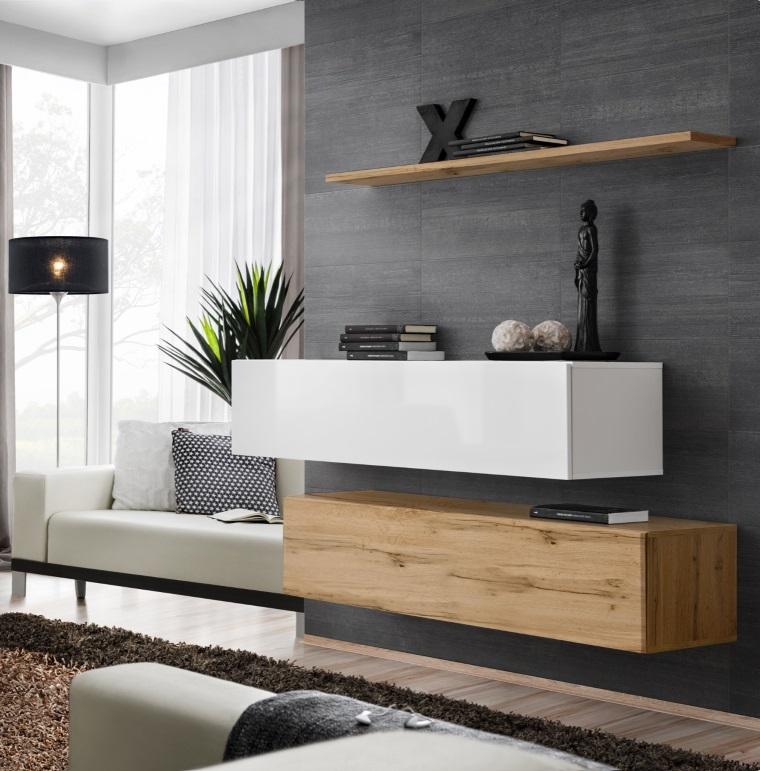 Shift SB II - High Gloss floating TV cabinet