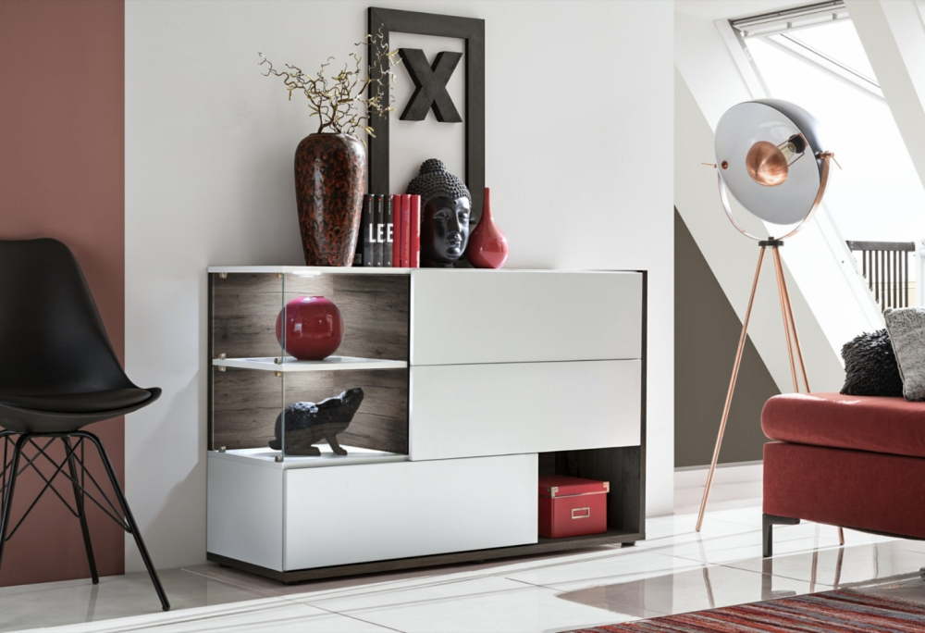 SB Simi - white modern chest of drawers
