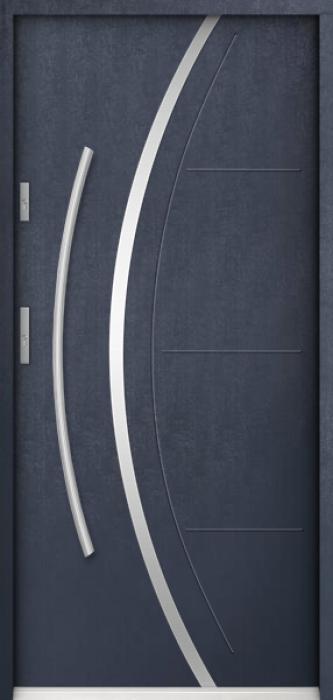 Sta Phoenix - stainless steel single front door