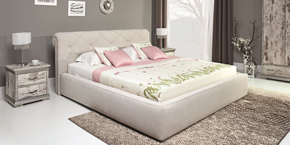 RESTO - faux leather bed