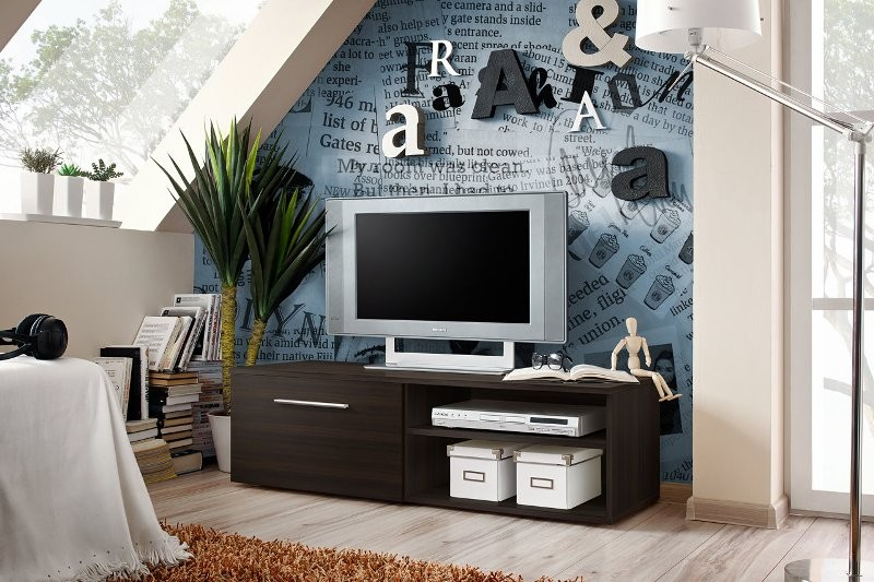 City 3 - wenge tv stand with storage
