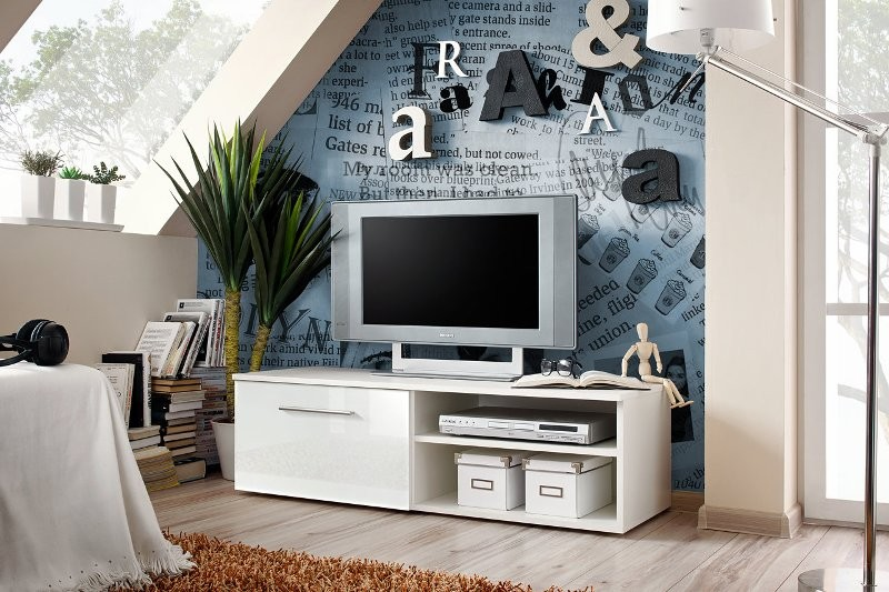 City 1 - white universal tv stand