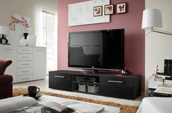 Soto 7 - black tv stand with storage