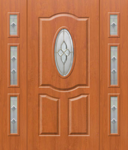 Kent 6 T - classic front door with two sidepanel