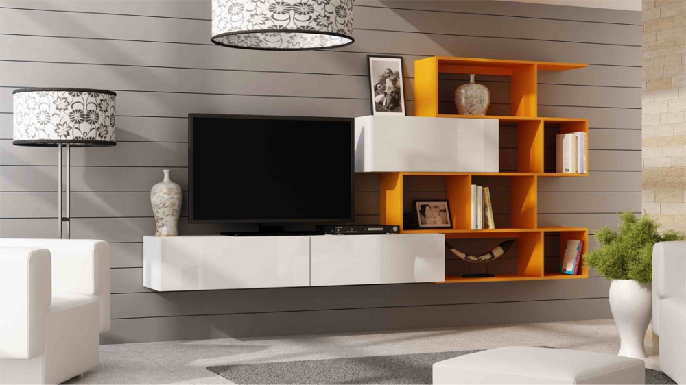 Vero style 1 - orange tv entertainment stand